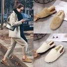 毛毛鞋女冬外穿年新款韓版百搭平底棉鞋網紅加絨女鞋子 - 古梵希