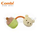 康貝Combi 小熊手搖鈴絨布玩具