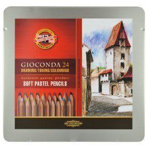 捷克製KOH-I-NOR 24C 專家級粉彩色鉛筆 *8828024
