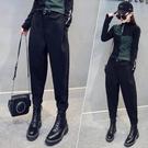 運動褲 女秋裝新款寬鬆褲子黑色長褲褲女冬季加厚 【618特惠】