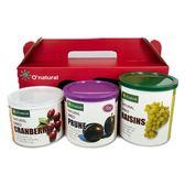 歐納丘暢銷果乾3入禮盒(蔓越莓乾.黑棗乾.葡萄乾)
