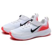 NIKE 休閒鞋 WEARALLDAY TD 白橘 輕量 透氣 運動鞋 小童 (布魯克林) CJ3818-100