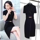 西裝裙 職業洋裝春夏季女裝ol氣質時尚正裝黑色工裝大碼工作服包臀裙子-Ballet朵朵