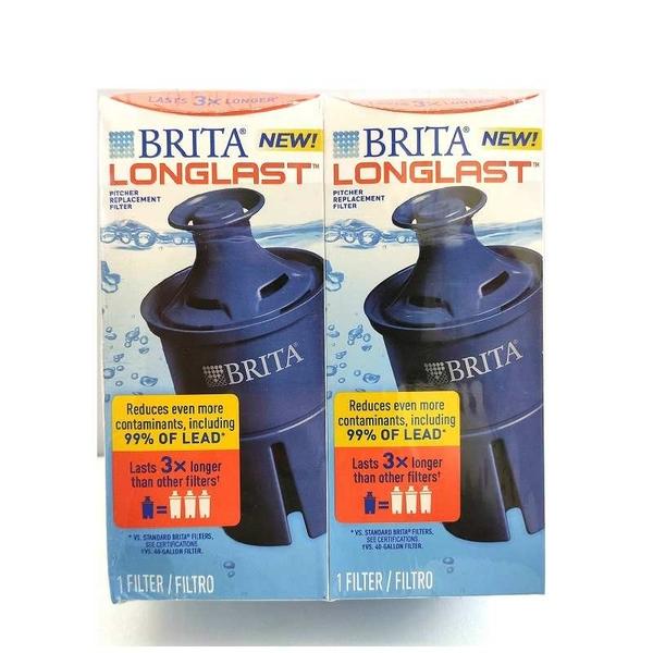 [106美國直購] Brita 6個月長效型濾芯 2入裝 Longlast Replacement Water Filter for Pitchers, 120 gallon each