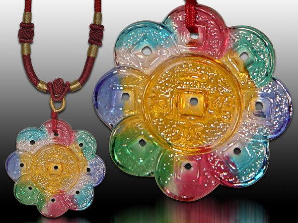 鹿港窯~居家開運水晶琉璃項鍊~一本萬利 附精美包裝 ◆免運費送到家◆