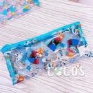 正版 迪士尼 冰雪奇緣 艾莎 安娜 雪寶 透明收納袋 筆袋 收納包 COCOS DK600