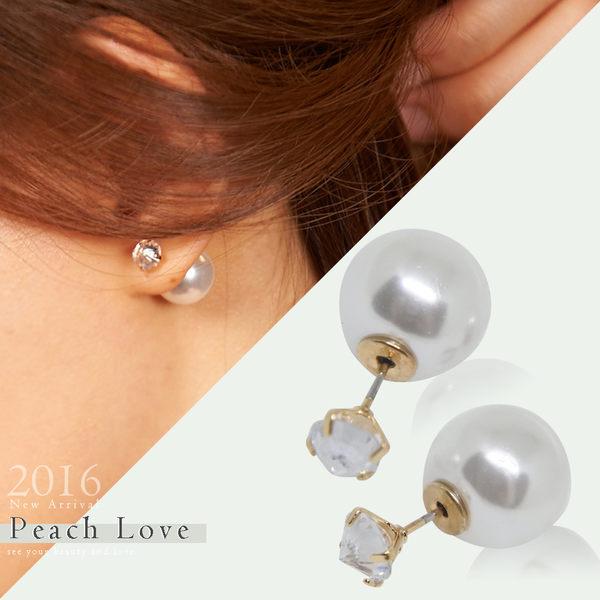 韓系耳環--後耳扣耳針