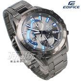 EDIFICE EFV-550GY-8A 公司貨 三眼設計 賽車錶 男錶 防水手錶 灰黑色x藍 EFV-550GY-8AVUDF CASIO卡西歐