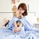 懶人袖毯-【水玉藍點】 時尚加厚懶人袖毯...