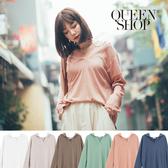 Queen Shop【01096473】V領素面連帽棉Tee 六色售*現+預*