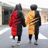 兒童羽絨服中長款加厚小中大童外套冬