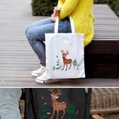 帆布袋 手提包 帆布包 手提袋 環保購物袋--單肩/拉鏈【DEA05-3】 BOBI  08/24
