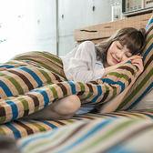 搖粒絨 / 單人【風尚紋彩】床包兩用毯組  頂級搖粒絨  戀家小舖台灣製AAW115