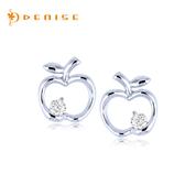 耳環 925純銀「小蘋果」銀飾 情人禮物