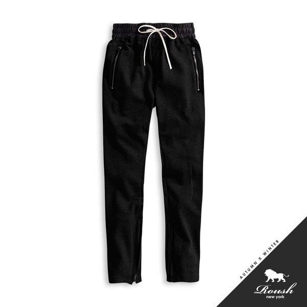【Roush】 褲管拉鍊設計重磅棉褲 -【727009】
