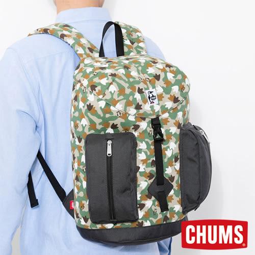 CHUMS 日本 SxN 口袋後背包 腳掌迷彩/黑 CH602401Z083