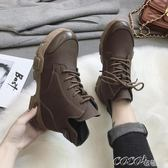 短靴 馬丁靴女短筒雪地靴冬季新款百搭韓版機車靴學生網紅短靴 coco衣巷