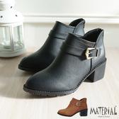 短靴 金屬側邊扣帶短靴 MA女鞋 T5633