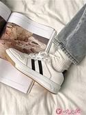 小白鞋 2021秋季新款運動板鞋老爹小白女鞋秋冬百搭加絨帆布街拍潮鞋 小天使