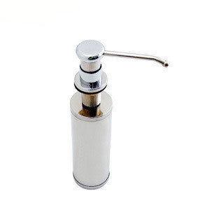 水槽皂液器 不鏽鋼瓶+銅頭 HEJ-259-1