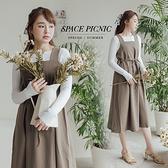 洋裝 Space Picnic|素面方領無袖洋裝-2色(現貨)【C21073068】
