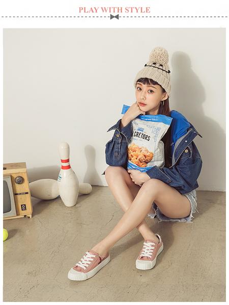 PLAYBOY 彩糖精靈 電繡兔頭帆布鞋-粉(Y5706)