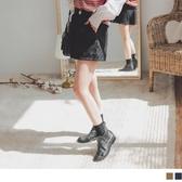 《BA5357》磨毛斜紋鬆緊造型腰頭設計短褲 OrangeBear