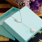 項鍊 925純銀珍珠墜飾-鑲鑽玫瑰花生日情人節禮物女飾品73gy112【時尚巴黎】
