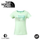 【The North Face 女 Logo短T《芽綠》】2XUY/吸濕排汗/透氣/運動/戶外/休閒上衣