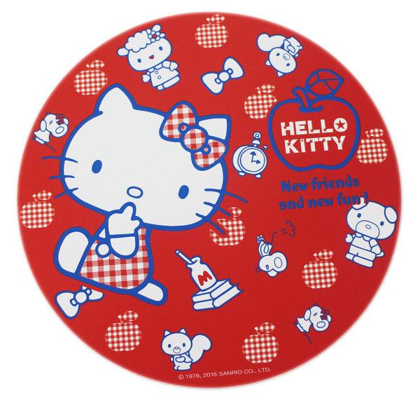 【卡漫城】 Hello Kitty 隔熱墊 紅蘋果 中 環保 木製 桌墊 餐墊 ㊣版 防滑 止滑 凱蒂貓 三麗鷗 台灣製