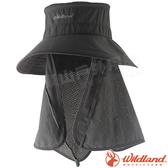 Wildland 荒野 W1028-93深灰色 中性抗UV多功能遮陽帽 防曬工作帽/登山健行休閒帽/遮臉大圓盤帽*