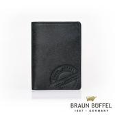 【BRAUN BUFFEL德國小金牛】瑞諾斯系列3卡名片夾(旅人黑) BF331-402-BK