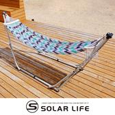 日本Toymock 可攜式折疊收納吊床.可攜式吊床 戶外網布吊床 折疊單人吊床 可調支架網床 附收納袋