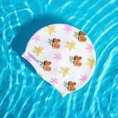 可愛時尚女士長發防水護耳游泳帽成人大號舒適硅膠泳帽 創想數位