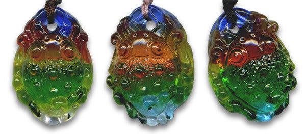 鹿港窯~居家開運水晶琉璃項鍊~發財金蟾 附精美包裝 ◆免運費送到家