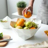 果盤 日式純色設計感個性超大沙拉碗水果盤客廳果盤果籃GP-32 1995生活雜貨
