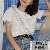 短袖T恤短袖t恤女白色夏打底衫純棉半袖上衣寬松純色基礎 【小檸檬】