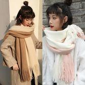 圍巾女秋冬季ins韓版百搭加厚可愛少女心男學生軟妹情侶冬天圍脖   米娜小鋪