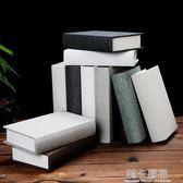 現代簡約假書仿真書本歐式裝飾書麻布封面攝影道具書模型書木書盒  莉卡嚴選