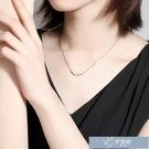 項鍊 銀質轉運珠項鍊女簡約氣質鎖骨鍊韓版小眾短款設計網紅個性小清新禮物 【快速出貨】