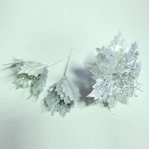 聖誕花 (銀色)大朵