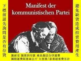 二手書博民逛書店2017年德文共產黨宣言Manifest罕見der Kommun