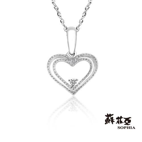 蘇菲亞SOPHIA - 怦然心動鑽石項鍊【璀璨好禮】