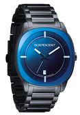 INDEPENDENT 獨立硬派俐落時尚腕錶-黑x藍
