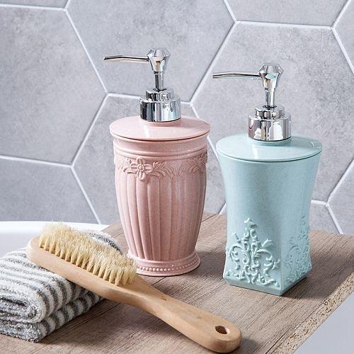 歐式雕花沐浴乳分裝瓶 洗手乳瓶 洗髮水按壓瓶 乳液瓶 (隨機出貨)