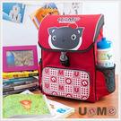【特價再95折】【UnMe】印刷板後背書包/紅色3093-NR