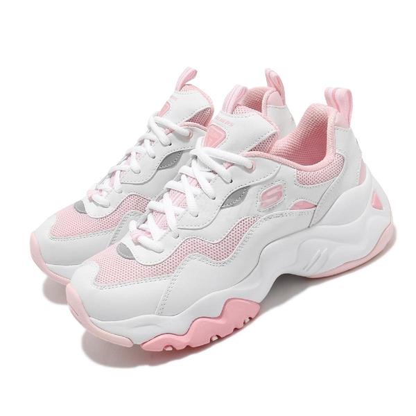 Skechers 休閒鞋 D Lites 3.0 Catch A Vibe 白 粉 女鞋 運動鞋 【ACS】 88888398WLPK