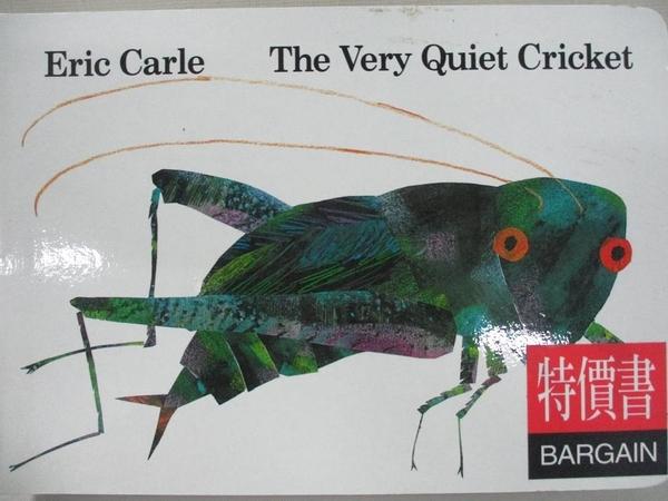 【書寶二手書T1/原文小說_H1G】The Very Quiet Cricket_Carle, Eric