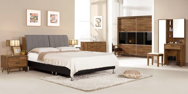 【森可家居】洛爾納6尺被櫥式雙人床(置物床頭+皮床底) (不含床墊) 7CM051-1 雙人加大