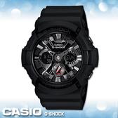 CASIO 卡西歐_G-SHOCK_GA-201-1A _仿輪胎金屬風_指針型雙顯錶